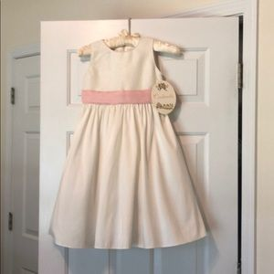 Cinderella brand ivory/ rose girls dress